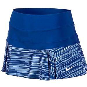 Nike pleated tennis skirt skort EUC BLUE/WHITE Lrg